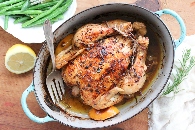 Roasted Garlic and Truffle Chicken with Truffle Pan Gravy // Roasted ...