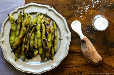 Garlic Fava Bean Recipe Roasted Grilled