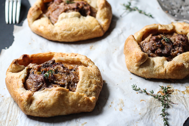 Cider-Braised Pork, Parsnip, & Shiitake Galettes | CHOCOLATE & MARROW